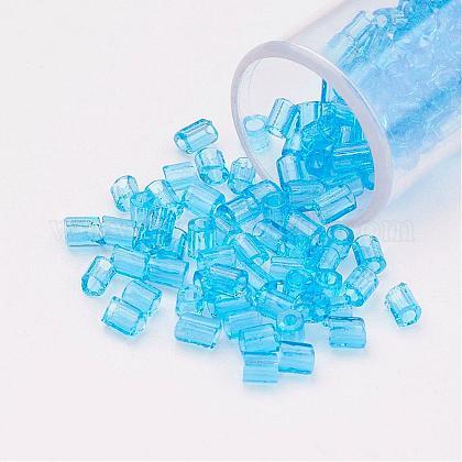 Perlas de vidrio de taladro redondo de dos-agujeros 11/0SEED-G006-2mm-03-1
