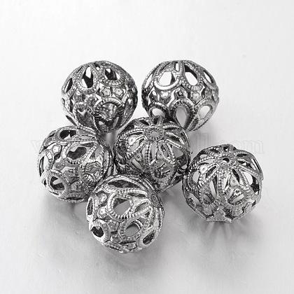 Perles rondes en filigraneE064Y-B-1
