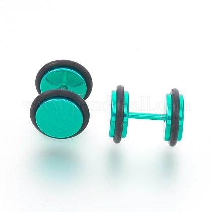 Electrophoresis 304 Stainless Steel Ear Fake Plugs GaugesEJEW-L207-N01-1