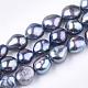 Hebras de perlas de agua dulce cultivadas naturalesPEAR-T003-13B-1