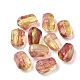 Two Tone Transparent Spray Painted Acrylic Bead ACRP-T005-21-1