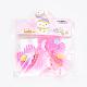 Flower Nylon Magic Tape Hair ClipsOHAR-S193-53-3