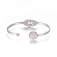 304 Stainless Steel Cuff BanglesBJEW-F390-01-2